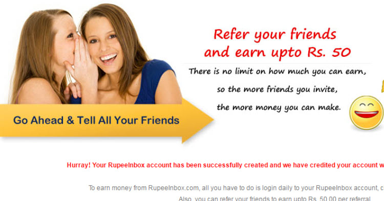 rupeeinbox sign up loot